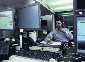 рабочее место маклера, брокера, финансового аналитика
